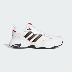 Adidas Men's White/Black/Red Strutter Shoes