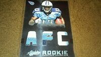 Kendall Wright SSP /25 AFC Patch 3 colors 2012 Absolute #218 Tennessee Titans