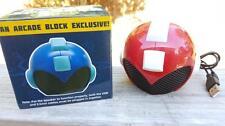 Mega Man RARE Red Variant EXCLUSIVE Helmet Speaker Arcade Block Collectible, NEW