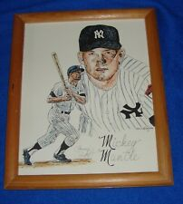 """Mickey Mantle 11"""" X 9"""" Framed Photograph"""