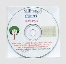 MILITARY COURTS CD, 1879-1994, RN, RAF, Army, Genealogy