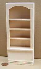 1:12 Scale Natural Finish Single Shelf Unit Dolls House Miniature Furniture 059