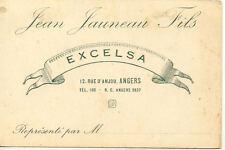 ANGERS carte commercial jean JAUNEAU EXCELSA 12 rue d'anjou