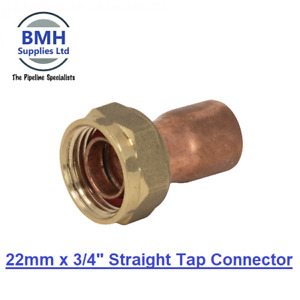 COPPER END FEED FITTINGS/PLUMBING FITTINGS/ELBOW/TEE/COUPLER/CAP. 22MM