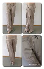Take Two Manrica Hose Baggy Cargo  Champagner Beige Changierend W29 L34 Neu