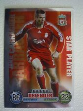 Topps Match Attax 2007/08 Football  Card LIVERPOOL Jamie Carragher S/P (EF1)