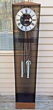1980s Howard Miller George Nelson Designed Grandmothers Clock Running Time & Str