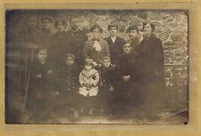 Carte Photo vintage card RPPC famille femme homme enfant militaire 79e pz093