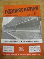 22/03/1969 Nottingham Forest v West Bromwich Albion  (creased, number on front).