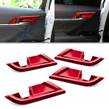 For Toyota Camry 2018-20 Sport Red Door Handle Bowl Panel Protector Cover Trims