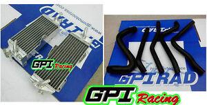 RH+L aluminum Radiator +hose Kawasaki KX250 KX 250 1990-1993 1991 1992 90 91 92