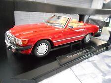 MERCEDES BENZ SL R107 500 SL 500SL rot red Facelift US Version Norev NEU 1:18