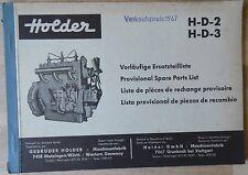 Holder Ersatzteilliste H-D-2  , H-D-3