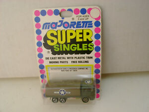 MAJORETTE SUPER SINGLES 1:100 SCALE MILITARY US ARMY SAVIEM TRUCK NEW ON CARD
