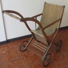 Antico passeggino/ carrozzina per bambole - giocattolo d'epoca / fine '800