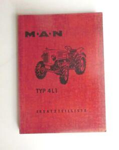 MAN Ackerschlepper 4L1  Ersatzteilliste  Schlepper Original 1959
