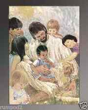 Jesus/Poster/Print/Little Children Come Onto Me/Approx:16x20 inch/Reproduction