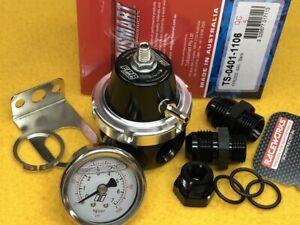 Turbosmart 8AN FPR2000 Fuel pressure regulator + gauge + fittings Black