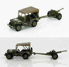 Hobby Master 1:72 Willys Jeep w/37mm Anti-Tank Gun US Army 1st Arm Div HG4213