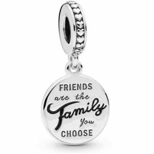Genuine Sterling Silver PANDORA Pendant Charm FRIENDS ARE FAMILY S925 ALE