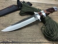 12 ''New Acrylic Handle 440C Blade Fixed Blade Survival Bowie Hunting Knife SA27