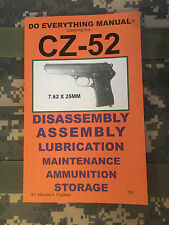 CZ-52 7.62 x 25mm Do Everything Manual