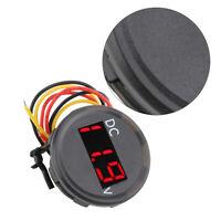 Car Motorbike 0-100V Voltage Meter Red LED Digital Display Voltmeter Gauge Unit