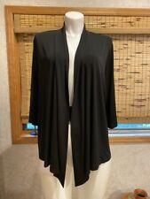George Black Soot Polyester Knit Cardigan Sweater Open Front Sz. 3X-3XG /22W-24W