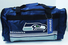 "Seattle Seahawks DUFFEL Bag Stripes Gym Training New 20"" x 11"" x 11"" NFL"