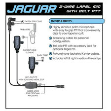 Tactical Ear Gadgets Jaguar Quick Release Earpiece Replacement for Adapters