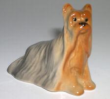 PORCELAIN Figurine DOG PUPPY YORKSHIRE TERRIER.RARE.UNIQUE.Hand Painted@