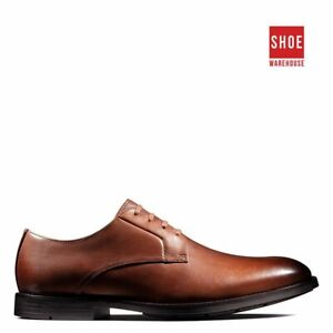 Clarks RONNIE WALK Brown Mens Lace-up Dress/Formal Leather Shoes
