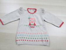 Mayoral Girls 6-9M Long Sleeve Owl Design Beige 100% Cotton Knit Sweater 6-9M