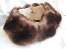 Ancien col de manteau en fausse fourrure, mercerie couture