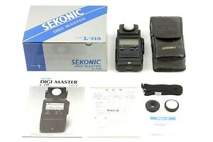 【TOP MINT】SEKONIC DIGI MASTER L-718 Light Expouse Meter w/ Case From JAPAN #S166