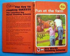 Fun At The Farm vintage Ladybird book 4b Key Words Reading Scheme children 30p