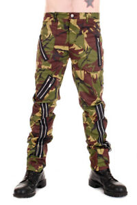 Tiger of London Zip Bondage Camouflage Pants. Punk Rock
