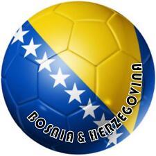 decal sticker sport car bumper flag soccer ball foot football bosnia herzegovina