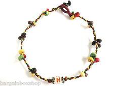 Lucky Charm Unisex Rasta Bead Ankle Bracelet Foot Anklet Hippy Boho Handmade