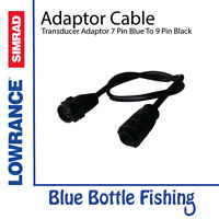 Lowrance / SIMRAD 7 Pin Blue transducer adaptor cable to 9 Pin Black