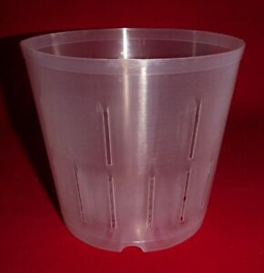 (2) 5CLS popular 5 inch clear plastic orchid pot slots strong flexible