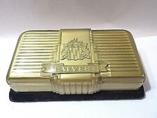 Gold And Black Plastic 5Th Avenue Vintage Celluloid Watch Jewelry Case Calvert