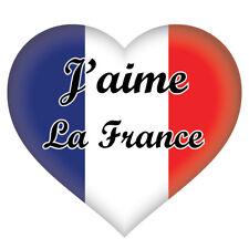 2 x j'aime la France Cœur Français Anglais Drapeau, Voiture, Van Autocollant Sticker