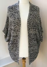 Atmosphere Black White Mix Oversized Slouch Cardigan Size M 12 14 16   #K60