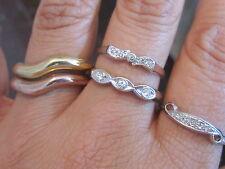 Vintage Sz 10 Espo 14K 18K Ge Gold Plated Rhinestone Cz Rings Jewelry Lot*A259