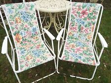 COPPIA di corrispondenza vintage imbottita pieghevole sedia da giardino anni'80 Campeggio Picnic Camper