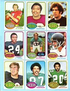 1976 TOPPS FOOTBALL 9 CARD NM LOT #9 (JOE THEISMANN)