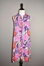 CUPIO NEW $78 Floral Sleeveless Button Up Asymmetric Shift Dress Medium