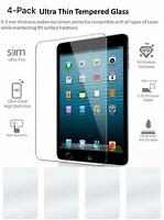 4 Pack TEMPERED GLASS Screen Protector for iPad 9.7 Pro 5th 6th Air Air 2nd Gen