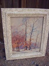 "VINTAGE SHABBY CHIC/COUNTRY COTTAGE IVORY FRAME, 20""X17"" PICTURE, 27""X23"" TOTAL"
